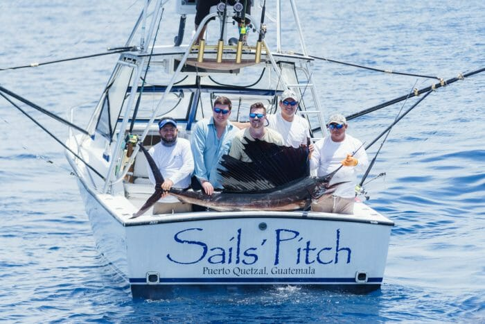 Capt. Chris Starrs 35' Bertram called ''Sails Call""
