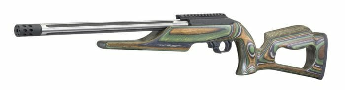 Ruger Custom Shop 10/22 Rifle green mountain laminate stock left side