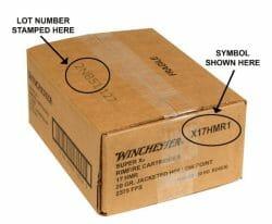 Winchester 17 HMR Recall ammo case