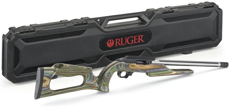 Ruger Custom Shop 10/22 Rifle green mountain laminate stock case