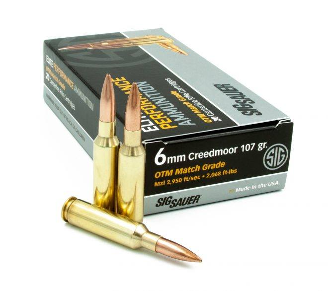 Sig 107gr 6mm Creedmoor Elite Match
