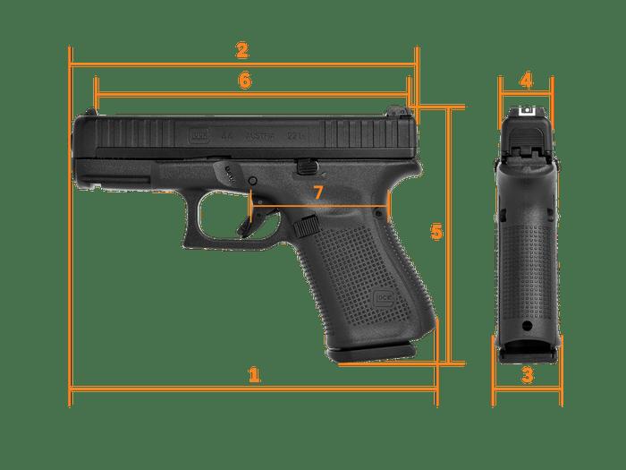 Glock G44 dimensions
