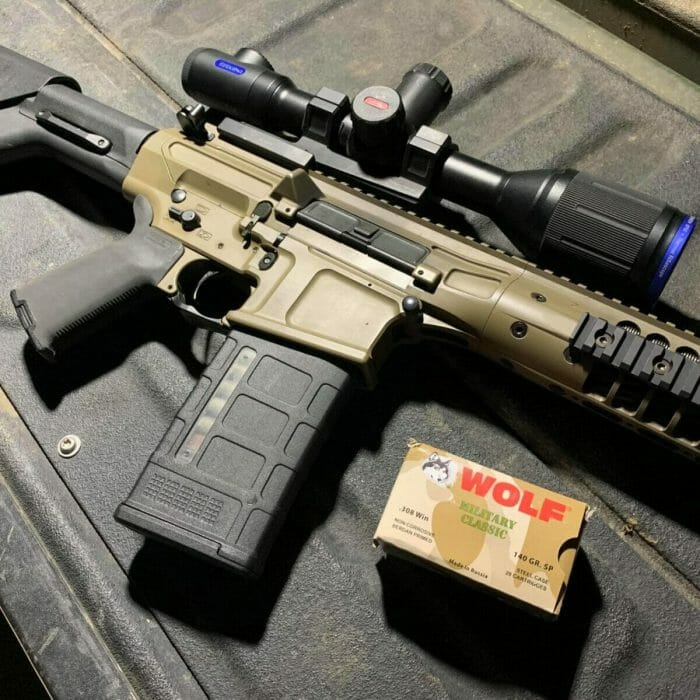 LWRCI REPR with Pulsar Thermion and Wolf ammo