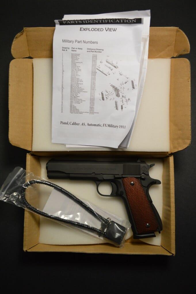 ATI 1911 FX Military Box Contents