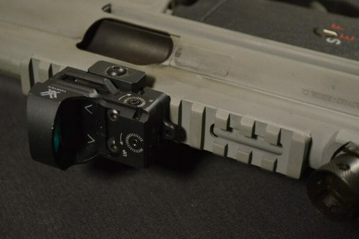 The top of the BAP9's receiver is home to a Picatinny rail, which makes optics mounting a breeze.