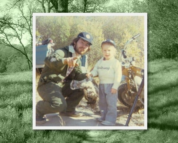Amanda Lynn and Dad grouse hunting in 1976