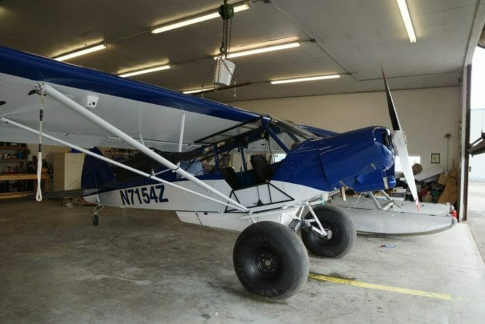 Fosters custom Super Cub. He is one of the few bush pilots that is trained in modifying bush planes.