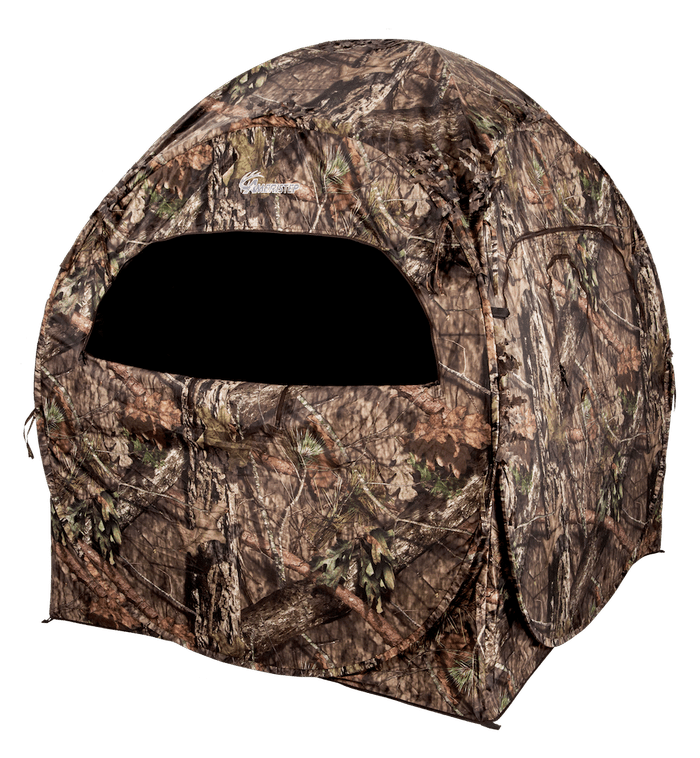 The Ameristep Doghouse Run & Gun Blind features a spring steel pop-up design.