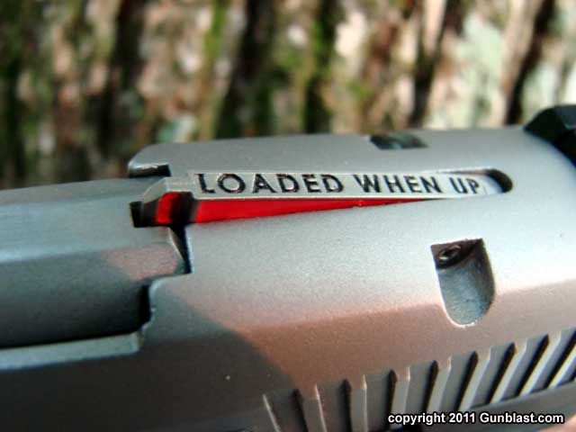Ruger SR9 loaded chamber indicator. Image courtesy of gunblast.com.