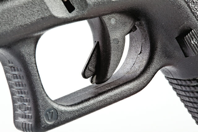Glock trigger safety. Image courtesy of shootingillustrated.com.